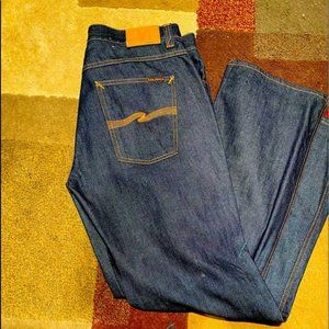 Black Nudie Jeans Boot Cut Size 38